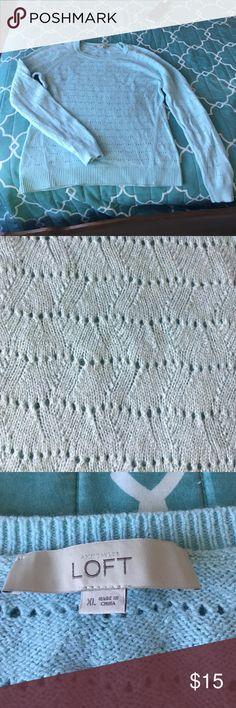 Light blue sweater Light Blue Sweater from Loft! Size XL. Smoke free and pet free home LOFT Sweaters Crew & Scoop Necks