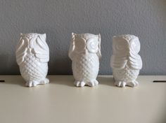See no evil, hear no evil, talk no evil...  Owls/Eulen