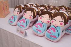 Audrey's Kokeshi Doll Themed Party – Party favors