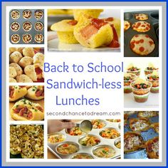 Back to School Sandwich-less Lunch Ideas - not really healthy ideas but fun ideas for the every now and then times!