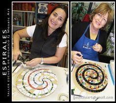 Mosaico. Técnica Espirales. Workshop en fj Mosaic Art