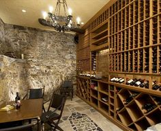 Cool Homes: Theater Raises a Glass to Hidden Wine Room, by Arlen . Home Wine Cellars, Beautiful Interior Design, Home Technology, House Extensions, Wine Storage, Stone Flooring, Commercial Design, House Rooms