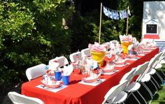 Little Sailor Nautical Boy's First Birthday Party! - Spaceships and Laser Beams