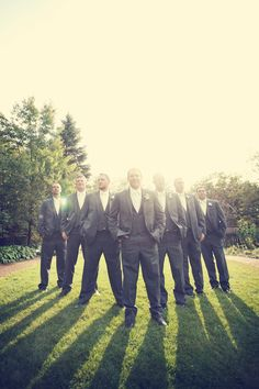 This pose is great for a big groomsmen party! The groomsmen // Photo by Benjamin Wedding Photography Poses, Wedding Poses, Wedding Groom, Photography Ideas, Wedding Ideas, Wedding Photography Inspiration, Wedding Inspiration, Groom Poses, Foto Pose