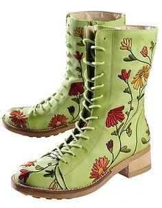 Deerberg Finnja, pistachio - Knee-high Boots - Deerberg