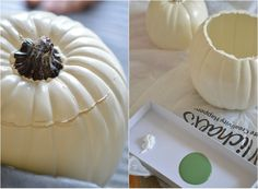 Green Thanksgiving: How-to Make a Pumpkin Vase. Super simple and inexpensive