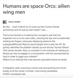 Aliens Wing Men -what's spelling? Tumblr Funny, Funny Memes, Hilarious, Tumblr Aliens, Space Australia, Aliens Funny, Writing Promts, Story Prompts, Writing Advice