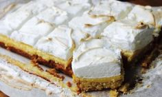Lemon meringue pie comes with very high expectations. Start slow and try this easier lemon meringue slice recipe first.