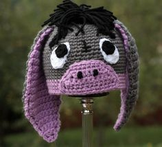 Eeyore hat crochet pattern