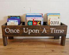 Nursery book shelf, baby nursery storage bin, kids storage, bookcase, book storage, toy storage, stuffed animal storage, kids room storage