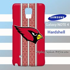 Arizona Cardinals Embroidery Stripes Samsung Galaxy Note 4 Case Cover