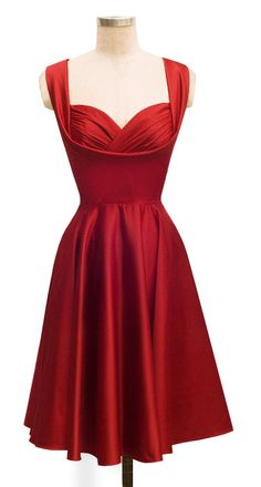 Honey Dress | Red Satin | 50's Inspired Bridal Collection | Trashy Diva bridesmaids!