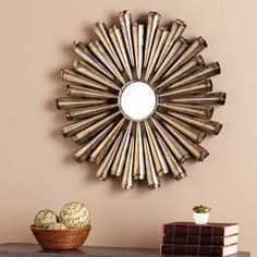 The Sunburst Shanira Mirror, At Just Less Than 34 Inches Wide, Pairs An  Old, Hand Crafted Edge With Contemporary Styling. | Traditional Eclectic |  Pinterest ...