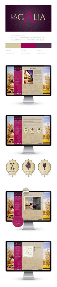 Brand design and website for La Galia, project to hotel dedicated to wine in Spain.