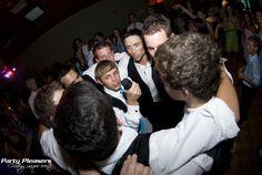 All the guys sing a long  Photo Credit- Kim Greer  #CincinnatiWedding #PartyPleasers