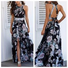 Shop sexy club dresses, jeans, shoes, bodysuits, skirts and more. Trendy Black Outfits, Simple Fall Outfits, Best Casual Outfits, Fall Fashion Outfits, Look Fashion, Fashion Dresses, Flowery Dresses, Cute Dresses, Summer Dresses