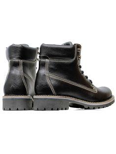 Vegan Vegetarian Non-Leather Womens Dock Boots in Black