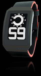 The ability to switch between white-on-black to black-on-white time display give this digital watch a style all its own
