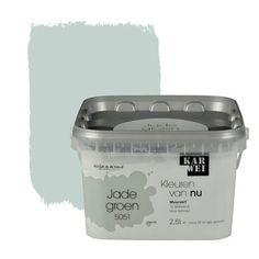 KARWEI Kleuren van Nu muurverf mat jadegroen 2,5 l | Muurverf kleur | Muurverf | Verf & verfbenodigdheden | KARWEI