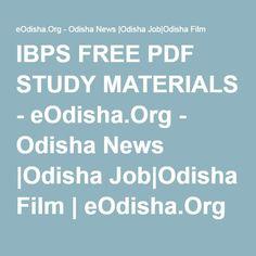 IBPS FREE PDF STUDY MATERIALS - eOdisha.Org - Odisha News |Odisha Job|Odisha Film | eOdisha.Org - Odisha News |Odisha Job|Odisha Film