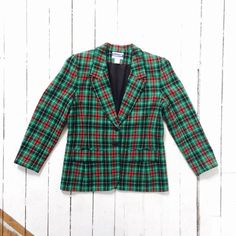 A personal favorite from my Etsy shop https://www.etsy.com/listing/252174337/red-green-plaid-pendelton-wool-jacket-w8