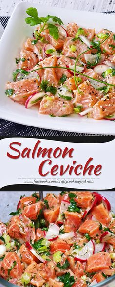 Salmon Ceviche! #Easy #Delicious #Low-Cal #Low-Carb