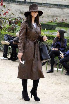 Leather coat - street style