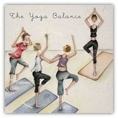 The Yoga Balance Berni Parker Designs Card. £2.75 - FREE Postage!