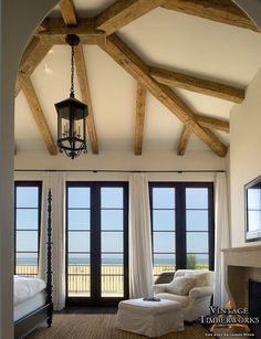 Reclaimed Hand Hewn Barn Beams - 8x8 hips with 6x6 rafters