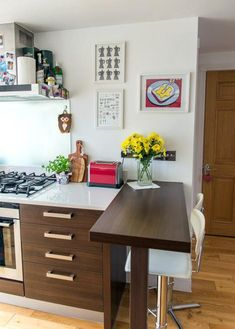 Unique Narrow Kitchen Breakfast Bar