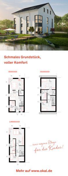 #okalhaus #architektur #Doppelhaus Entdecken Sie unsere Doppelhäuser auf www.okal.de