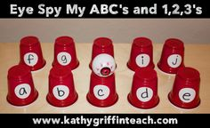 Fun Eye Spy Game for Learning the Letters of the Alphabet in Preschool and Kindergarten