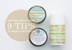 switch to aluminum free natural deodorant that works!
