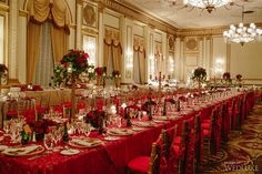 A Red and Gold Wedding with a decidedly royal feel | WedLuxe Magazine