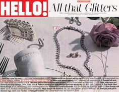 HELLO! Our Floral Marquis Necklace from our cocktail collection featured in Hello this week!
