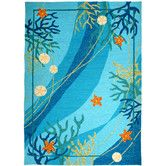 My favorite so far :) Found it at Wayfair - Underwater Coral and Starfish Indoor/Outdoor Rug