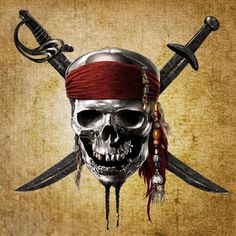 'Pirates Of The Caribbean Spoilers: Potential And Confirmed Villains In New Installment Pirate Skull Tattoos, Pirate Ship Tattoos, Pirate Tattoo, Jack Sparrow Tattoos, Jack Sparrow Wallpaper, Skull Template, Mexican Art Tattoos, Actors Funny, Pirate Coins