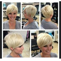 """""""Rank from one to ten @emilyandersonstyling  @emilyandersonstyling : : #blondehaircut  #shorthairstyle #pixiehaircut. Who is the artist behind this cut…"""""""