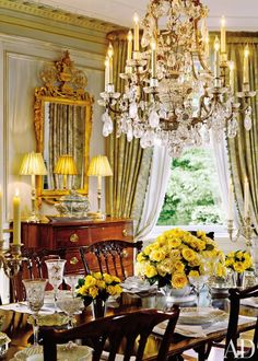 Dining Room by Marshall Watson and Holmes Easley and James Akers in Summit, New Jersey