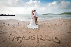 beach wedding couple - Google Search