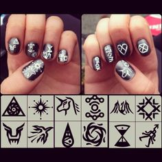 EXO inspired nail art! Anyone who could do that to me..?