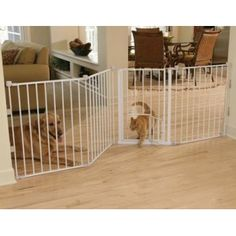The Carlson Flexi Walk Thru Metal Gate with Small Pet Door is perfe...