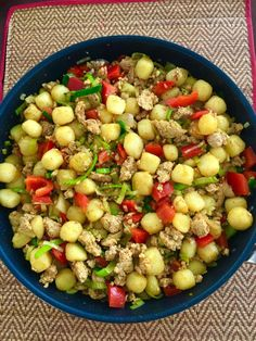 Gehaktpannetje met aardappelen, kipgehakt en groenten   Mooie recepten