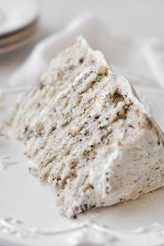 Cookies And Cream Cake, Cake With Cream Cheese, Yummy Cookies, Vanilla Buttermilk Cake, Buttermilk Cookies, Round Cake Pans, Round Cakes, High Altitude Cake Recipe, White Velvet Cakes
