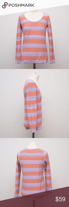 Sonia by Sonia Rykiel Stripe Sweater Sonia by Sonia Rykiel orange and purple striped sweater. Size small. Sonia Rykiel Sweaters Crew & Scoop Necks