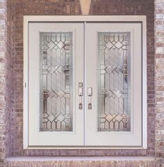 "Attractive white ""metal"" stained glass doors. Good in the North, NW and West."