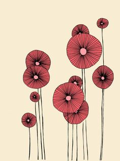 I want to paint a bowl with poppies like this. ://www.etsy.com/listing/104709968/poppy-flowers-illustration-print?ref=tre-2723252754-2