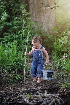 Heading to the fishing hole  Connor David 15mo  Toddler Boy photography  Southern Oregon  Jennifer Sharp Photography