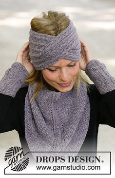 Ponchos & scarf - free knitting patterns and crochet patterns by DROPS D . : Ponchos & scarf – free knitting patterns and crochet patterns by DROPS design Drops Design, Knitting Patterns Free, Knit Patterns, Free Knitting, Bandeau Torsadé, Knitted Headband Free Pattern, Knit Crochet, Crochet Hats, How To Start Knitting
