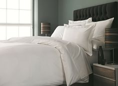 Provide your guests with a warm and luxurious night's sleep with our Arona Plain Sateen Duvet cover. Ideal for 5 star hotels. Shop luxury Liddell linen at Vision Support Services. Double Duvet Covers, White Duvet Covers, Luxury Duvet Covers, Luxury Bedding, Queen Size Sheets, Bed Company, Quality Hotel, Linen Bedroom, Hotel Bed
